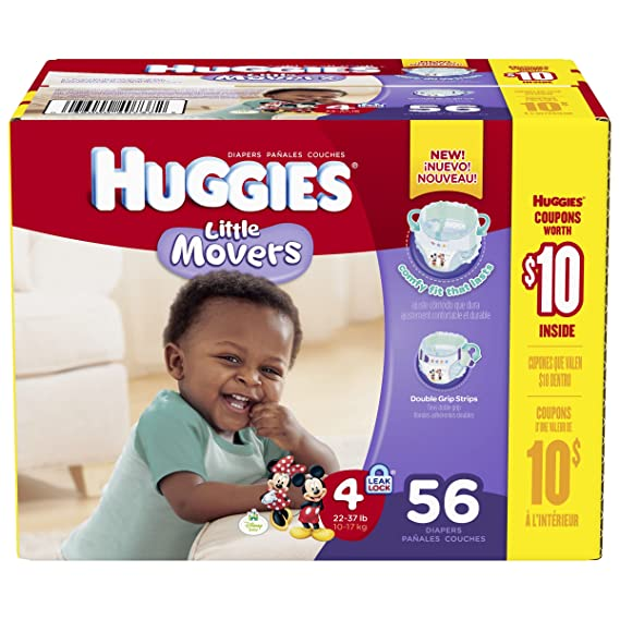 Huggies Diapers 56 CT (Pack of 4)