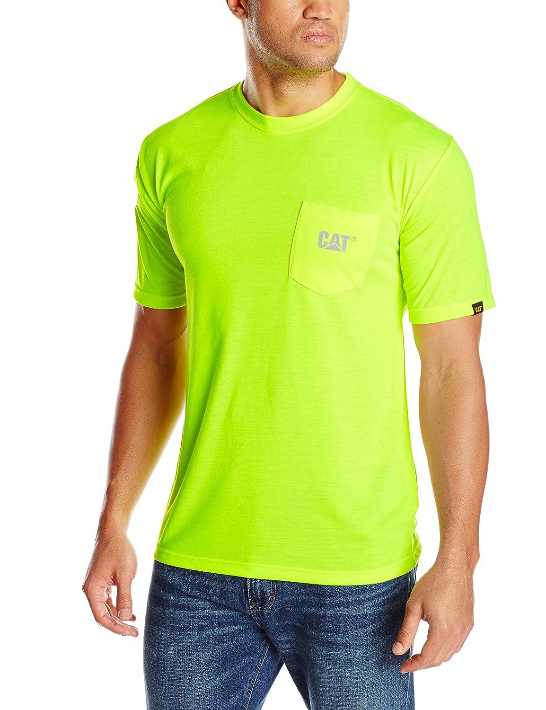 Caterpillarメンズ高視認性商標ポケットTシャツ B00HYJA7SU  イエロー(Hi-Vis Yellow) S