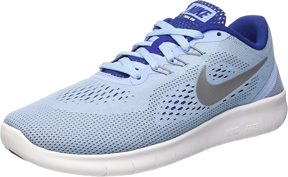 Nike Free RN (GS), Zapatillas de Running para Mujer, Azul (Bluecap/Metallic Silver-Deep Royal Blue), 37 1/2 EU: Amazon.es: Zapatos y complementos