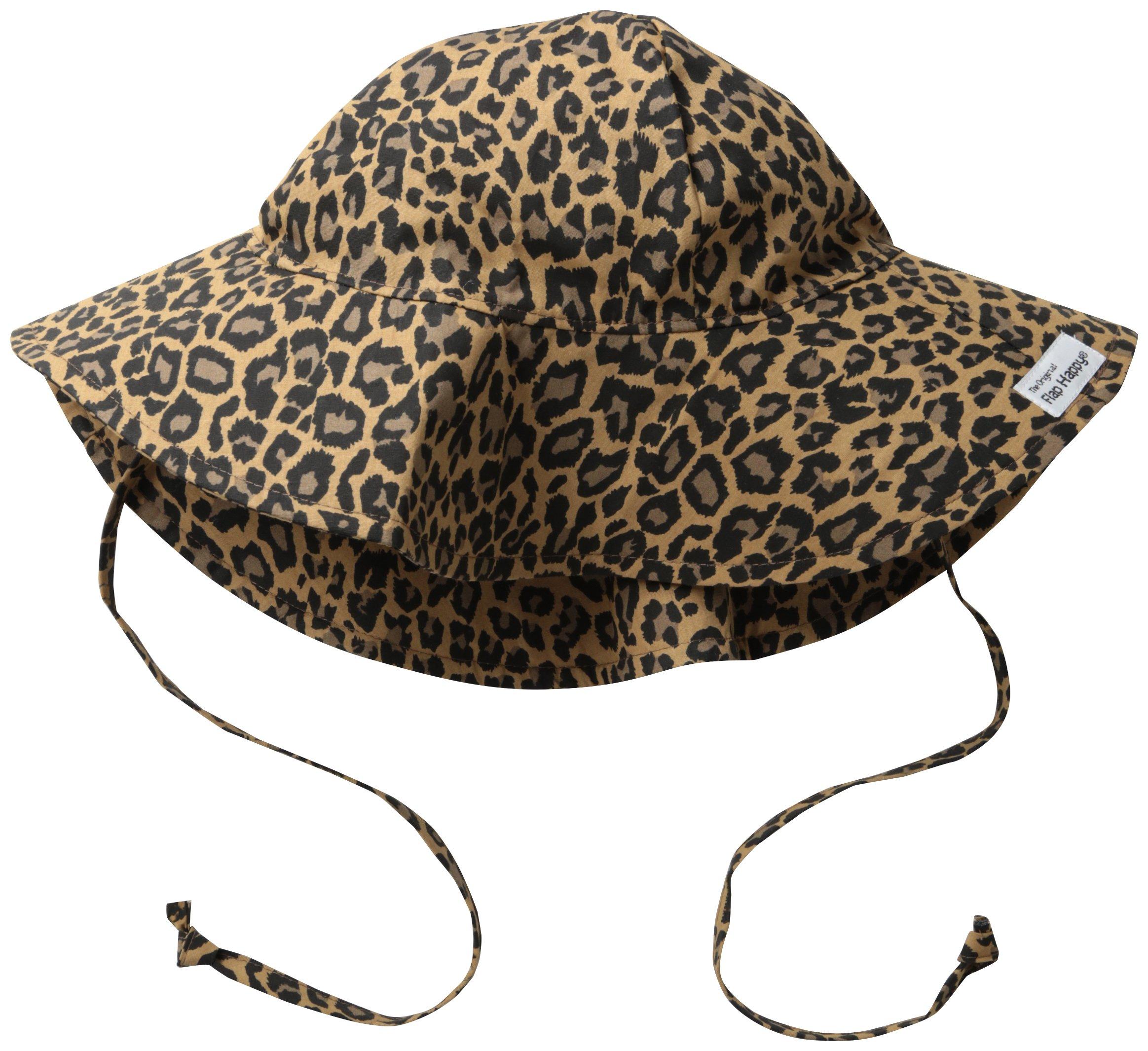 Flap Happy Little Girls'  Upf 50+ Orginial Floppy Hat, Leopard, X-Large