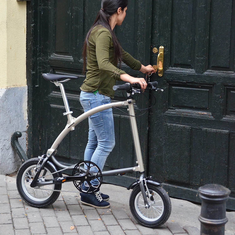 Ossby Curve Bicicleta Plegable, Unisex Adulto, Beige metálico, Talla Única: Amazon.es: Deportes y aire libre