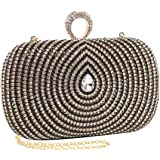 MG Collection Old Hollywood Glamorous Rhinestones Baguette Evening Clutch Purse
