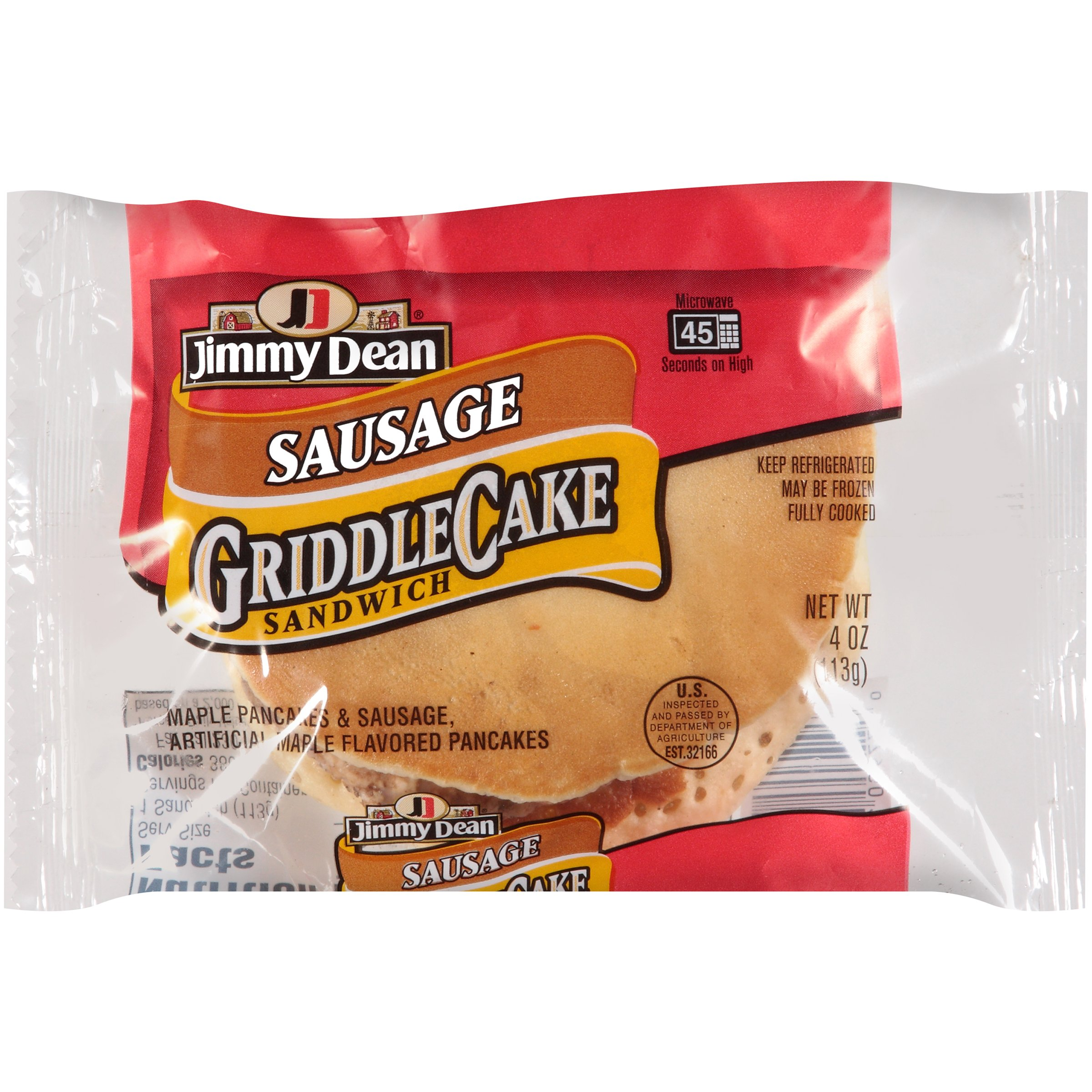 Jimmy Dean Sausage and Pancake Sandwich, 4 oz., 24 per case