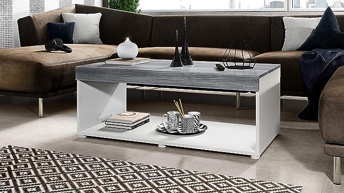Mesa de Centro para sofá y Sala de Estar Pure con 2 estantes ...
