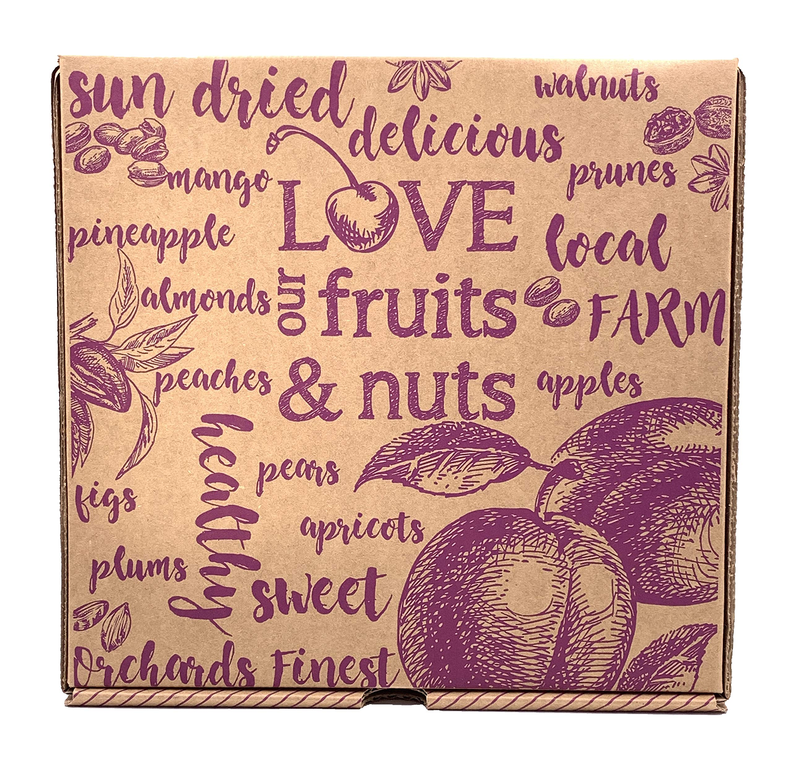 Nut and Dried Fruit Gift Box, Healthy Gourmet Snack Christmas Food Box, Great for Birthdays, Sympathy, Family Parties & Movie Night or as a Corporate Thank you by Vacaville Fruit Company (Image #3)