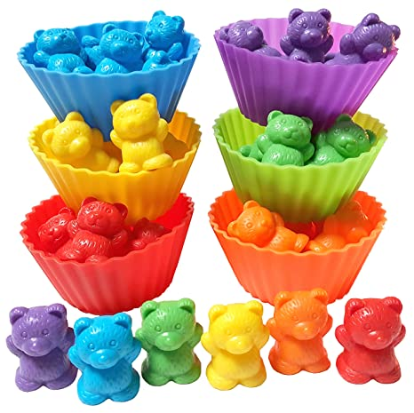 Jumbo Sorting And Counting Bears With Stacking Cups Activity EBook