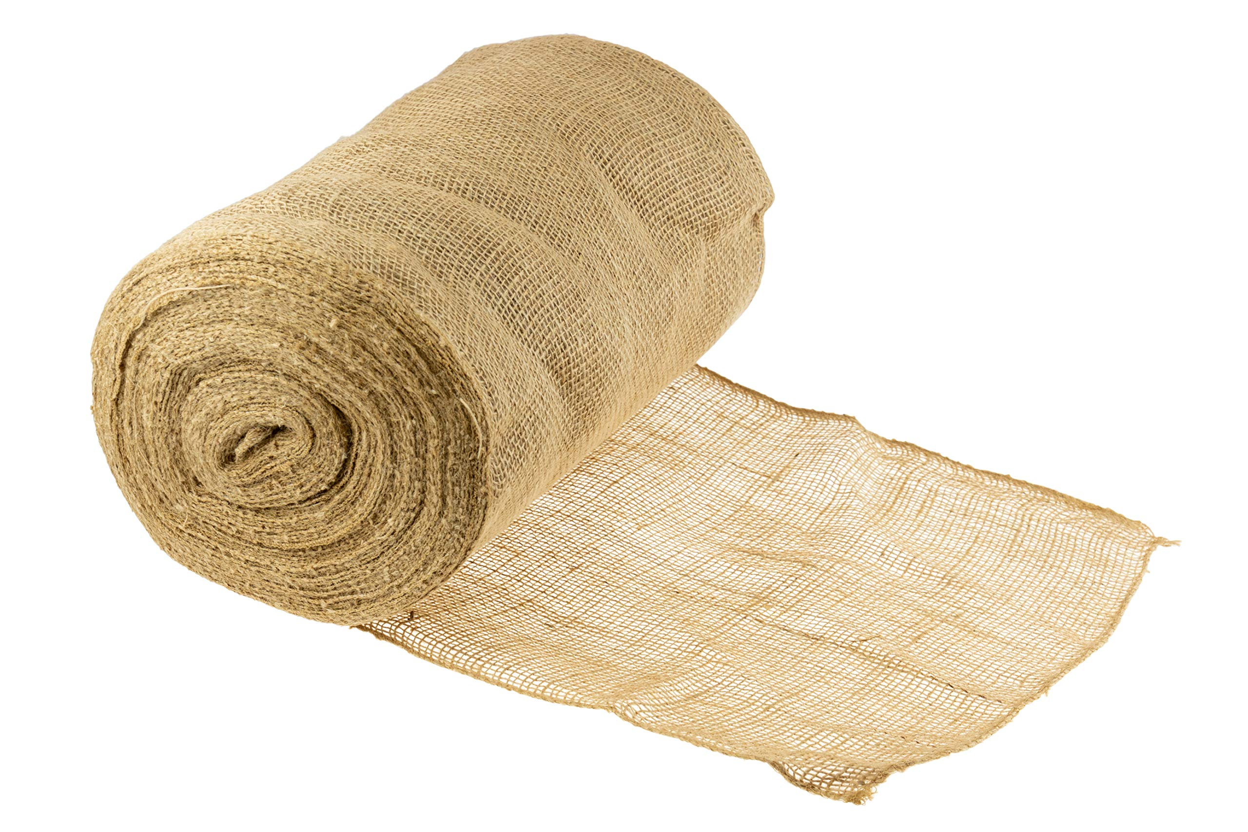 Clever Creations Natural Rustic Burlap | Finished Edges | Perfect Decor for Weddings, Table Runners, Gardens DIY Crafts | 12'' x 40 Yards |Create Your Own Burlap Ribbons, Curtains, Fabric, Tablecloth