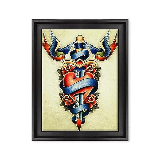Cuadro sobre lienzo Canvas - ConKrea - Listo para colgar - Tatuaje ...