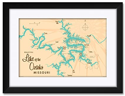 Northwest Missouri Map.Amazon Com Northwest Art Mall Lake Of The Ozarks Missouri Map