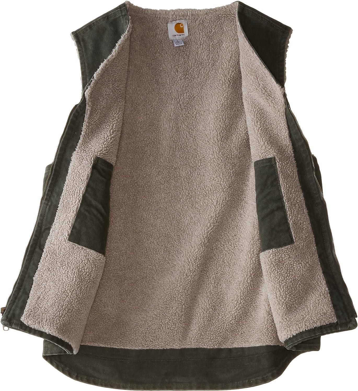 Carhartt Mens Big /& Tall Sherpa Lined Sandstone Rugged Vest V26