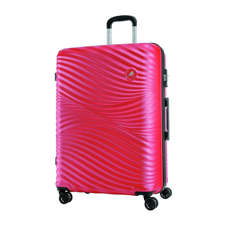 [カメレオン] スーツケース ワイキキ スピナー75 Lサイズ 無料預入受託サイズ 保証付 96L 75cm 4.8kg TSA B07TG7XR65 ラズベリーレッド