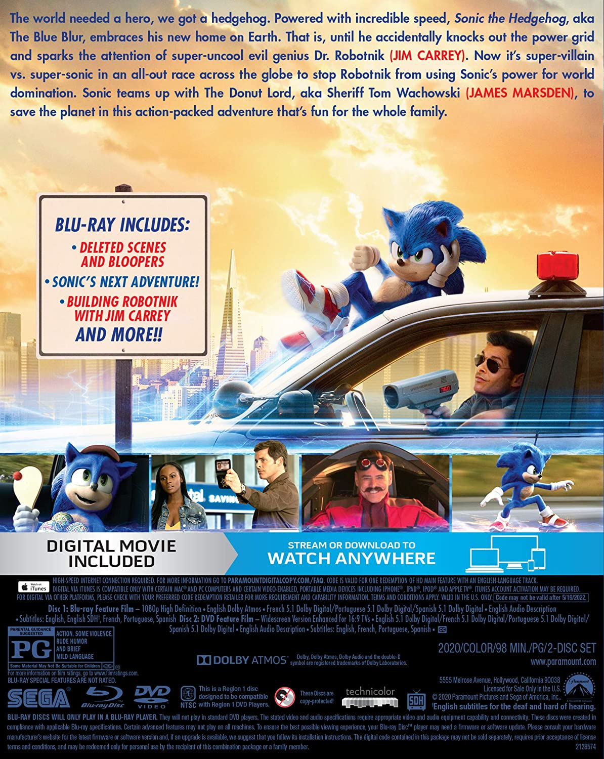 sonic the hedgehog 2020 dvd walmart