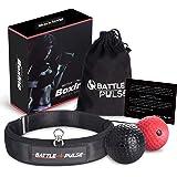 BattlePulse Reflex Ball – Soft Multilayer Premium Headband Boxing Ball – 360-Degree Buckle – 2 Difficulty Level Punching…