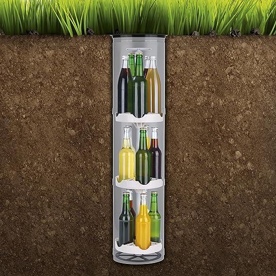 Flaschenkühler Kühlschrank für Flaschen Garten Outdoor Boden Erdloch Versenkbar