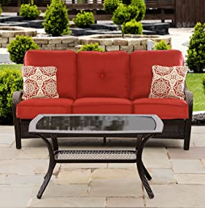 Hanover ORLEANS2PC-B-BRY Orleans 2 Piece Patio Set, Autumn Berry
