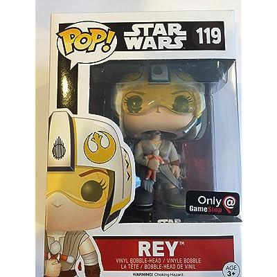 Funko Pop! Star Wars Rey #119 (With X-Wing Helmet Exclusive): Toys & Games