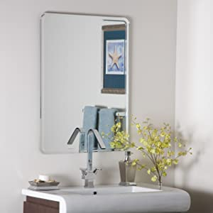 Decor Wonderland Samson Frameless Mirror, Large