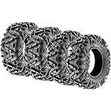 SunF Power.I ATV/UTV all-terrain Tires 25x8-12 Front & 25x10-12 Rear, Set of 4 A033, 6-PR, Tubeless