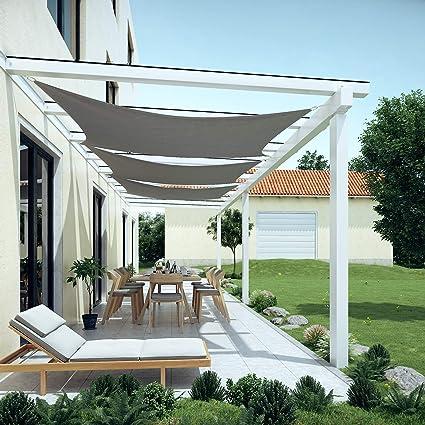 SONGMICS 2 x 3 m Vela Solar, Resistente al Agua Más Que 1000 mm ...