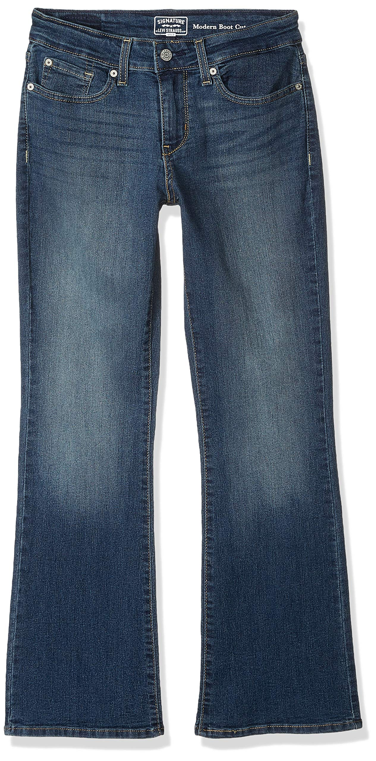 Signature by Levi Strauss & Co Women's Modern Boot Cut Jeans, Grey Stone, 12 Long