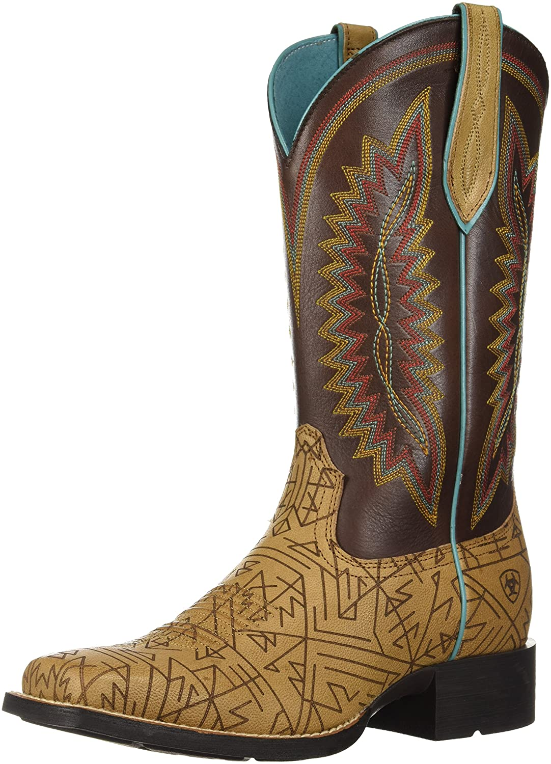 Ariat Women's Quickdraw Legacy Western Boot B076RCXF7R 9 B(M) US|Sandstorm/Naturally Dark Brown
