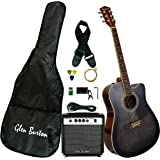 Glen Burton GA204BCO-BK Acoustic Electric Cutaway Guitar