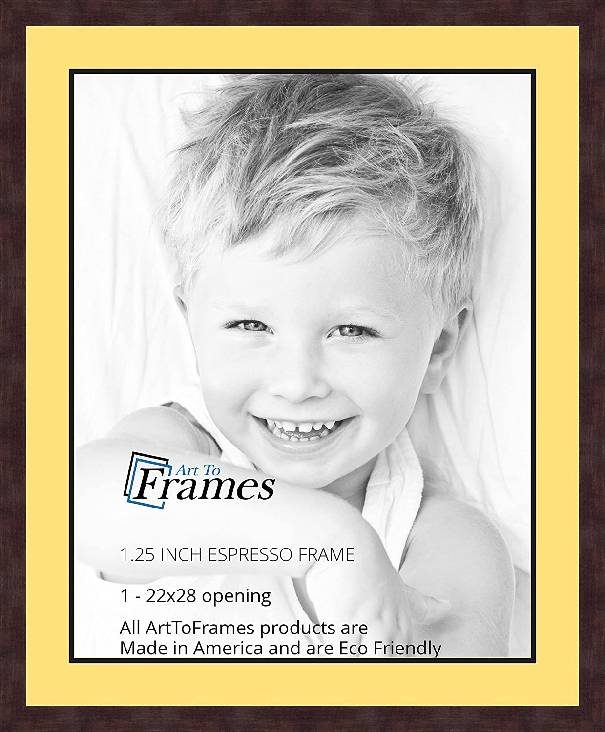 Art to Frames Double-Multimat-662-47R//89-FRBW26061 Collage Frame Photo Mat Double Mat with 1-22x28 Openings and Espresso Frame