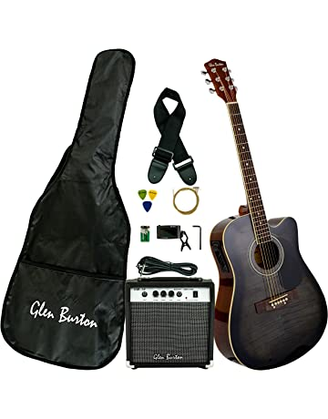 Glen Burton GA204BCO-BK Acoustic Electric Cutaway Guitar, Black. #3