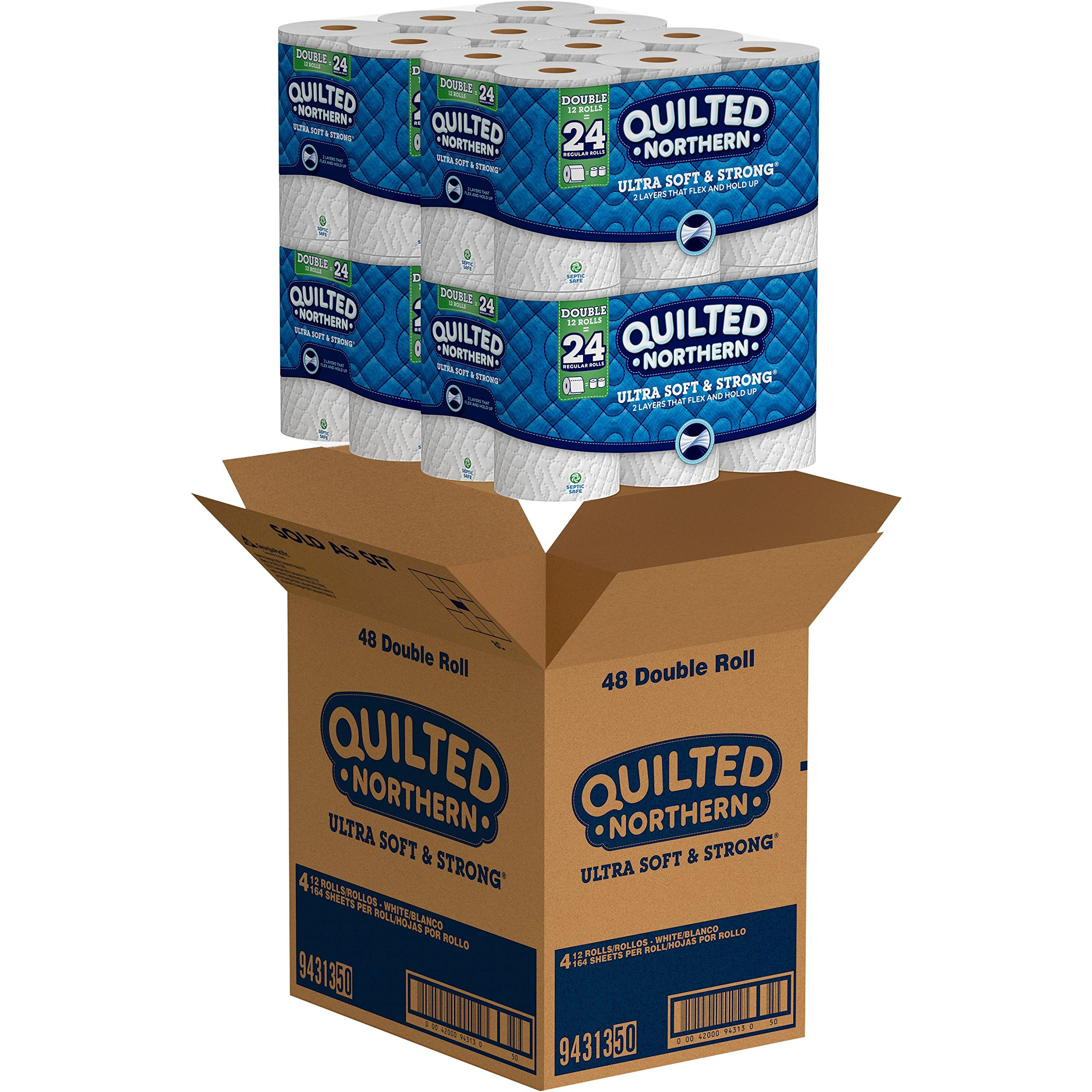 Quilted Northern Ultra Soft & Strong Toilet Paper, 48 Double Rolls, 164 2-Ply Sheets Per Roll by Quilted Northern (Image #2)