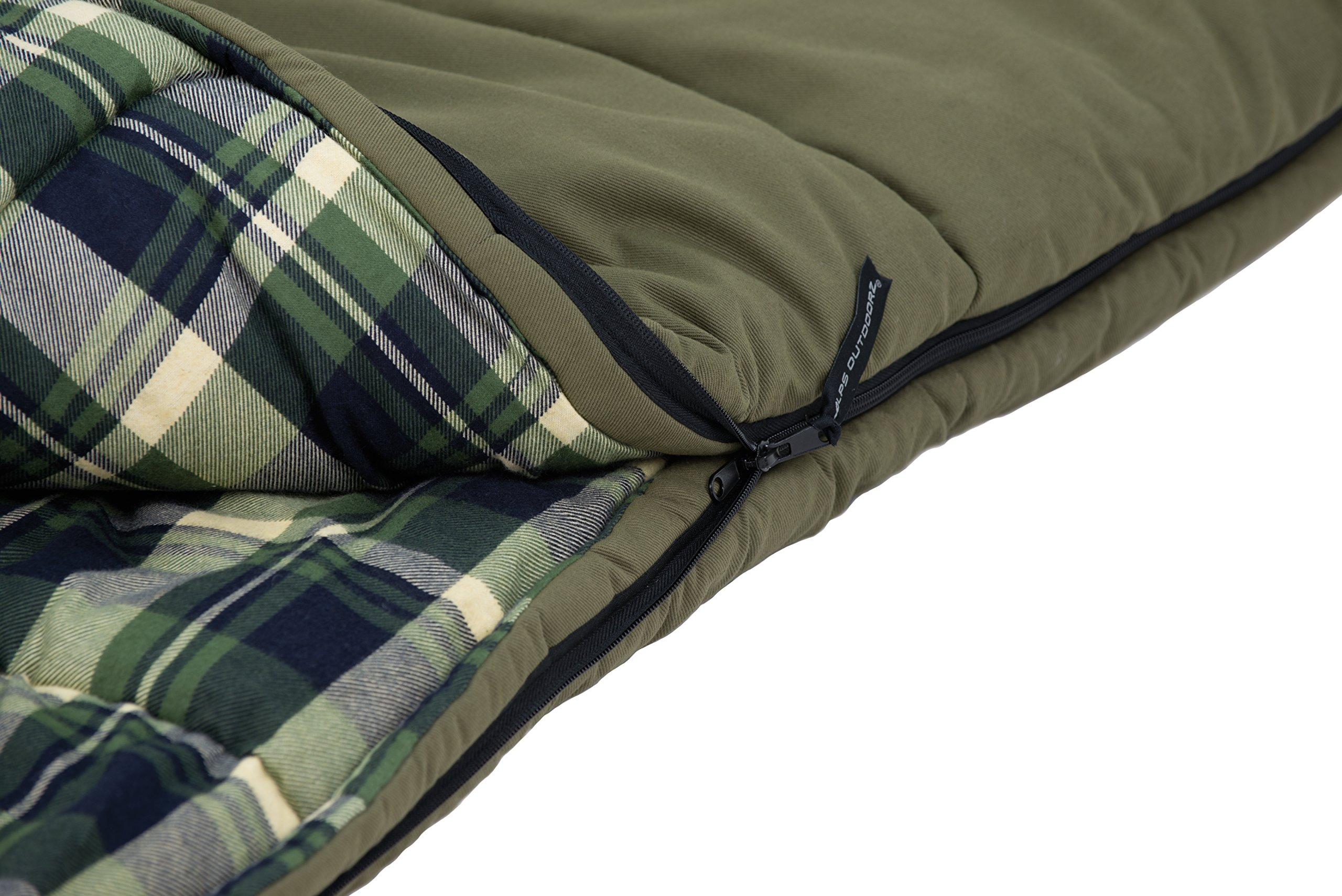ALPS OutdoorZ Redwood -10 Degree Flannel Sleeping Bag 5
