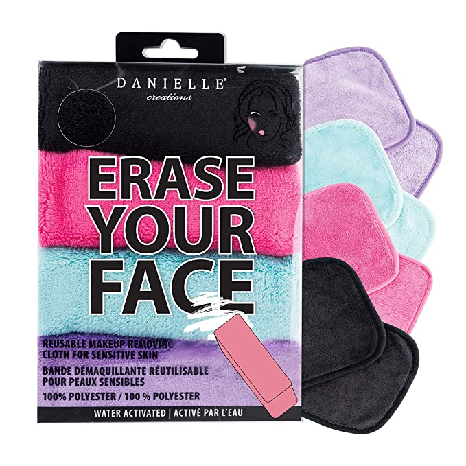 Make-up Removing Cloths 4 Count, Erase Your Face with just water | cleaver gift ideas for makeup lovers
