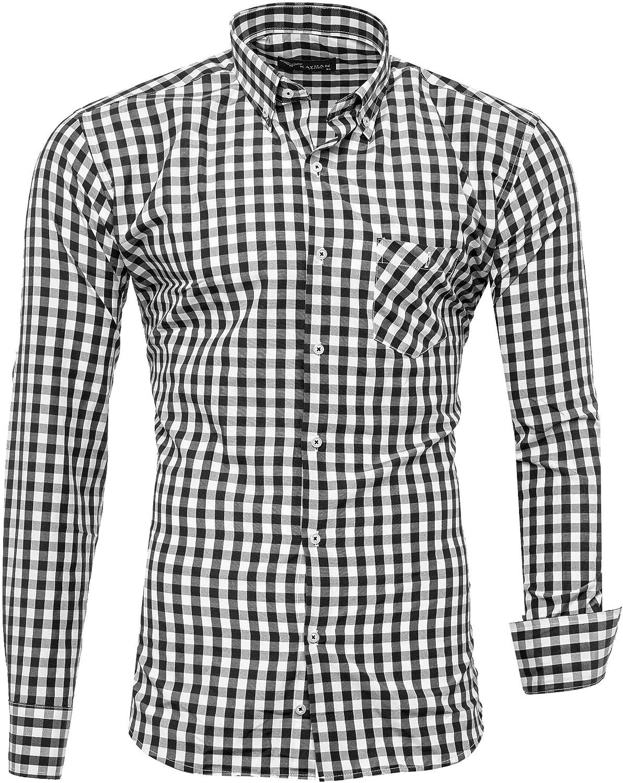 Kayhan Hombre Camisa Manga Larga Slim Fit S -6XL Modello - Quadros K-2014: Amazon.es: Ropa y accesorios