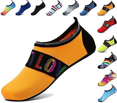 0f00a9793b25 adituob Water Sports Shoes Aqua Barefoot Socks Pool Beach Swim Exercise for  Women and Men