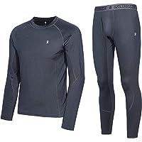 Little Donkey Andy Conjunto de ropa interior térmica para hombre con capa base de rendimiento que absorbe los pantalones…