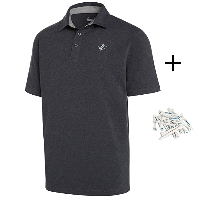 155bdb2e Image Unavailable. Image not available for. Color: Jolt Gear Golf Shirts  for Men - Dry Fit Cotton Polo Shirt ...