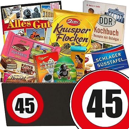 Geschenke 45 Geburtstag Schoko Ost Box Geschenk Zum 45