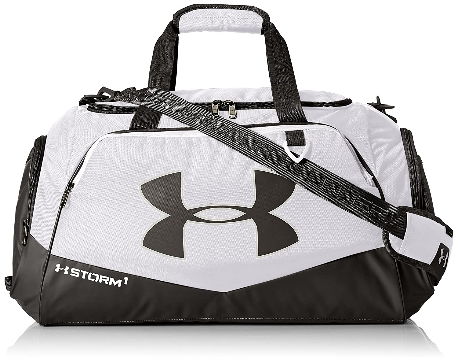 Under Armour Team Storm Undeniable Medium Duffle, Black (001)/Silver, One Size Under Armour Bags 1272783