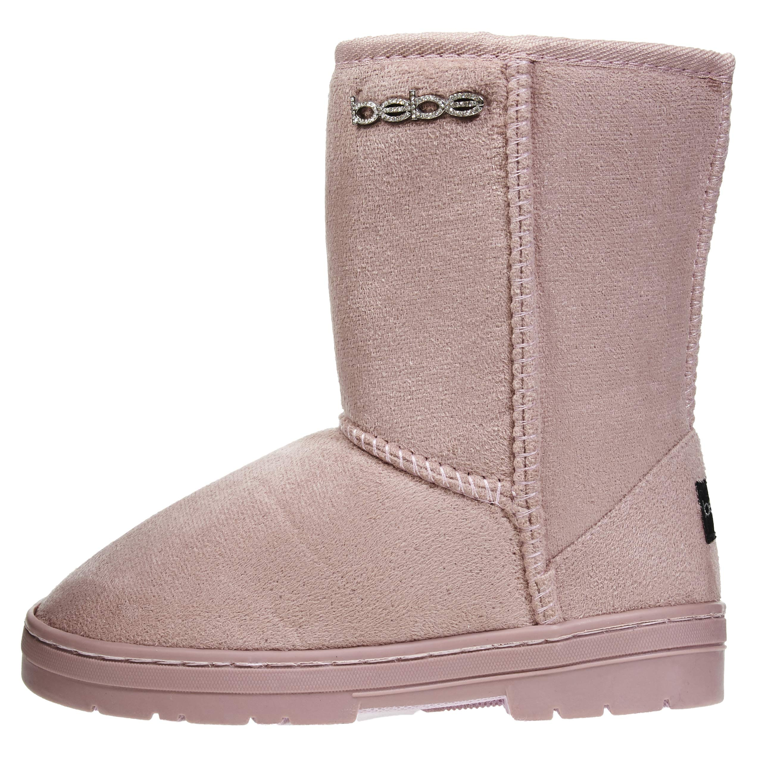 bebe Girls Winter Boots Size 11 Casual Dress Warm Slip-On Mid-Calf Shoes Blush