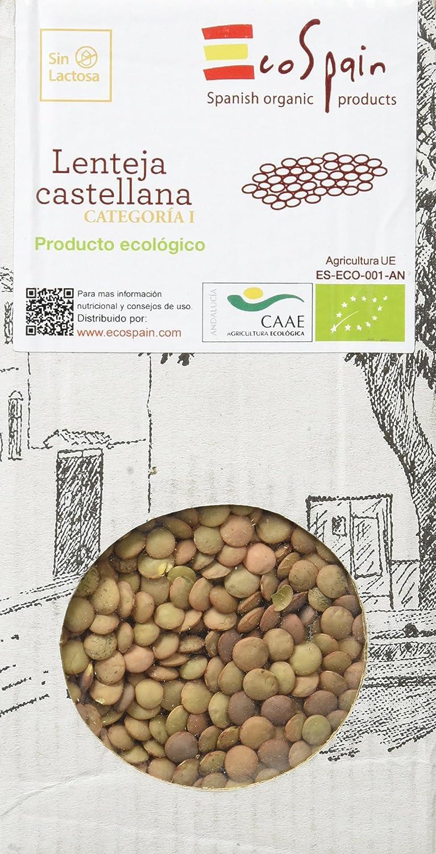 EcoSpain Lentejas Ecológicas Castellana - 500 gr: Amazon.es ...