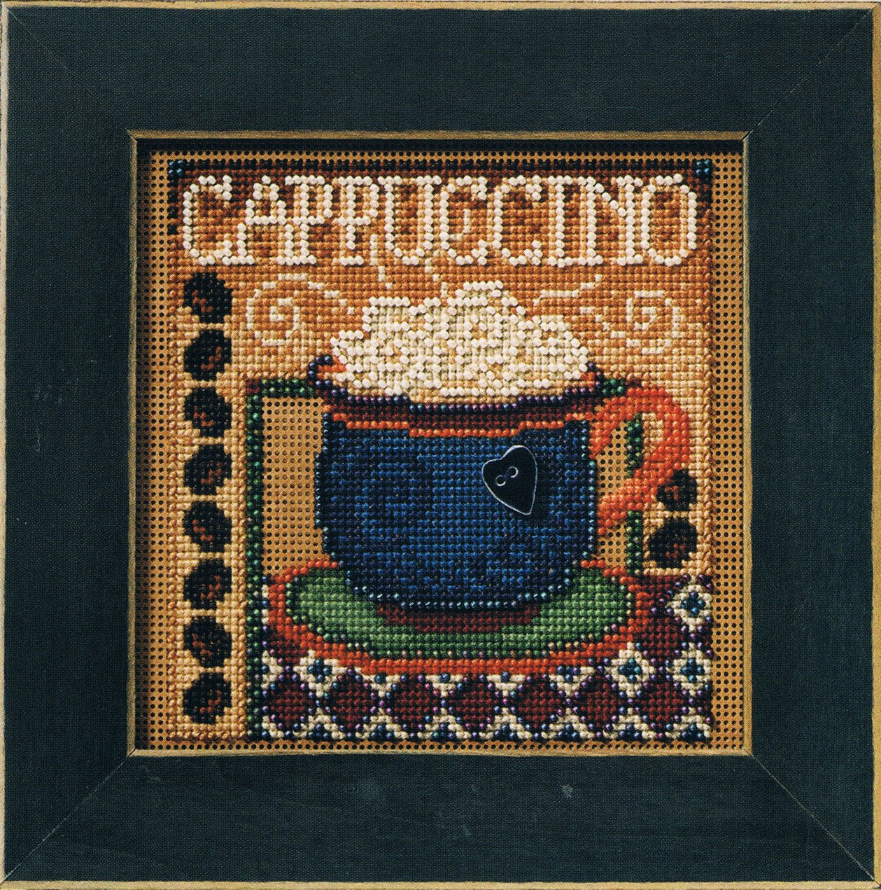 Cappuccino Beaded Counted Cross Stitch Kit MH14-8202 Mill Hill Buttons /& Beads 2008 Autumn