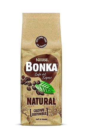 BONKA Café en grano de tueste Natural y de cultivo sostenible - Paquete de Café en