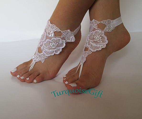 08d6a510c18b Amazon.com  Beach wedding barefoot sandals