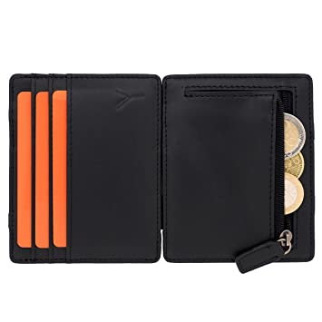 f7d1d47dc3874 PYONEERS® Magic Wallet mit Münzfach und RFID Schutz - Das Original - kleine  magische Geldbörse