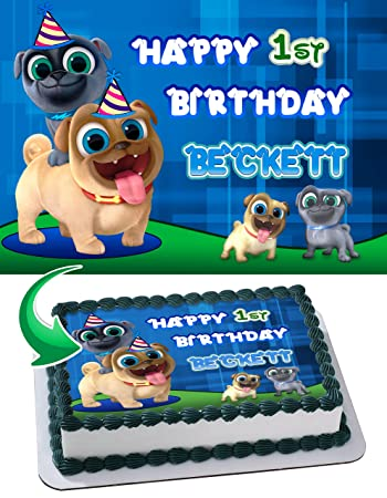 Puppy Dog Pals Edible Image Cake Topper Personalized Icing Sugar