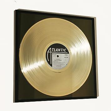 DISC´O´CLOCK AC/DC - Back in Black: Rahmen mit Goldener ...