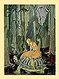 """Virginia Frances Sterrett : """"Blondine on Tortoise"""" (Old French Fairy Tales, 1920) — Giclee Fine Art Print"""