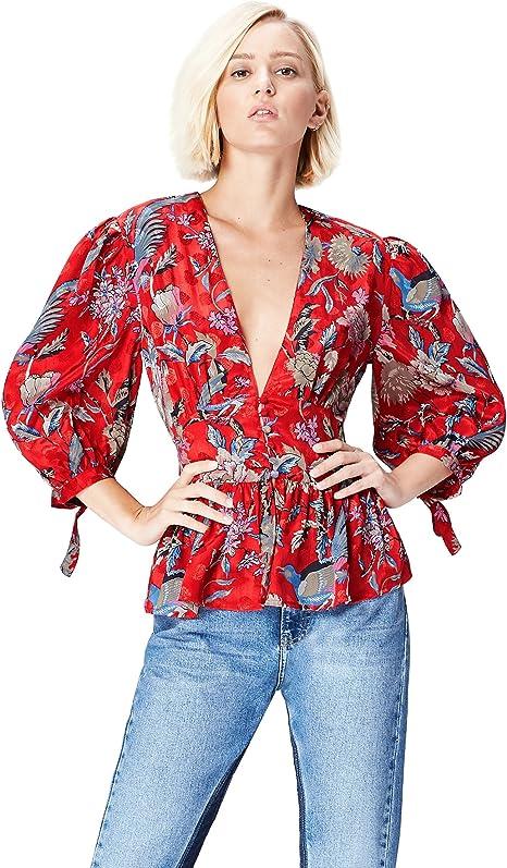 Marca Amazon - find. Blusa Estilo Kimono para Mujer