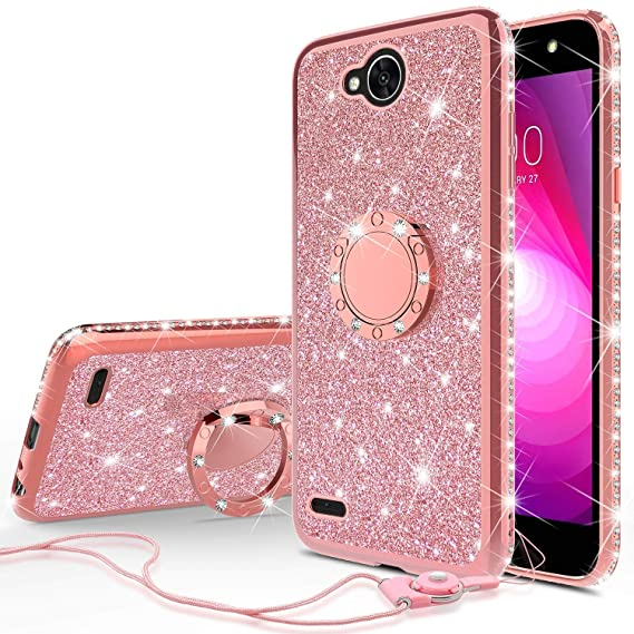new product b2564 9872a For LG X POWER 2 Case/LG FIESTA 2 Case, Phonelicious Liquid Glitter PCTPU  [Lightweight] [Shock Proof] Hybrid Hard Protector Cover [See Through] TPU  ...