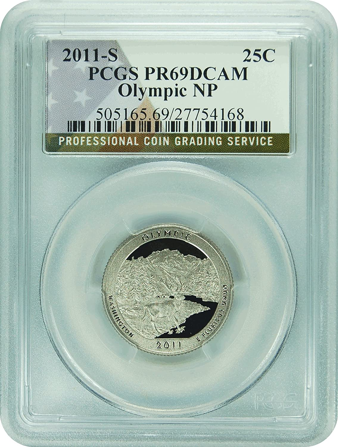 2011-S Olympic Proof Clad Quarter National Park PCGS PR69DCAM FREE SHIPPING