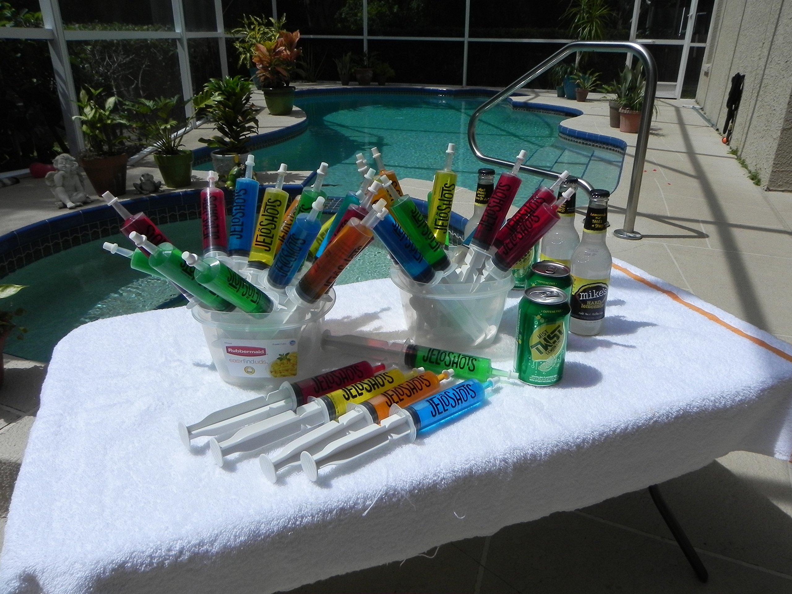 Jello Shot Syringes 32-Pack, Medium (up to 2oz), The Original JeloShots Gelatin Jello Shot Syringes with Easy-Grip Caps, Reusable by The Original JeloShots (Image #7)